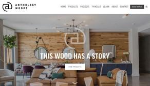 anthology woods reclaimed wood website design