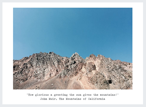 'Glorious Mountain' Photo Postcard 4x5.5in Pack of 5