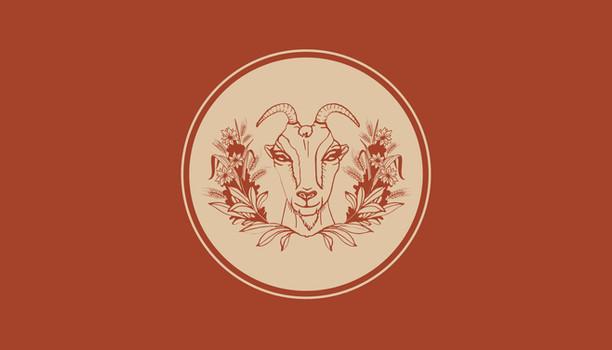 illustrated goat logo business card design