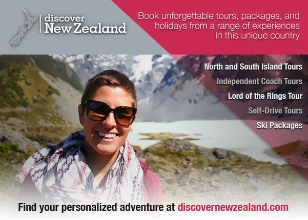 travel agency print ad design