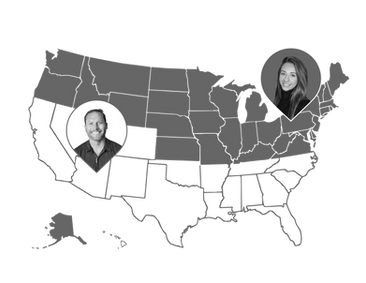 custom map graphic for web design