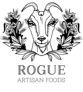 artisanal foods illustrated logo goat foliage