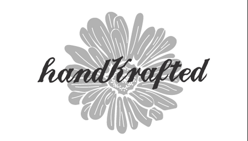 handkrafted business card design black and white