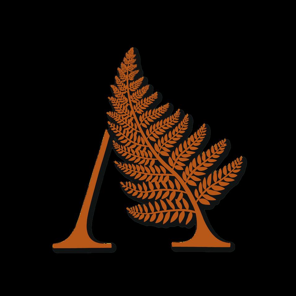 orange fern logo design