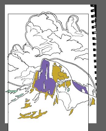 yosemite wpa poster sketch design