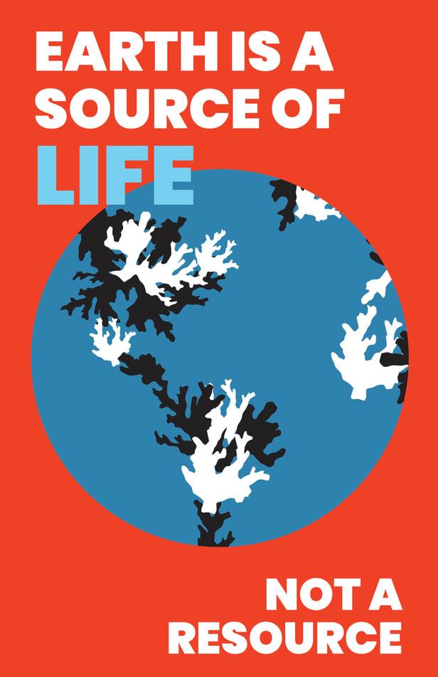 coral reef conservation poster design