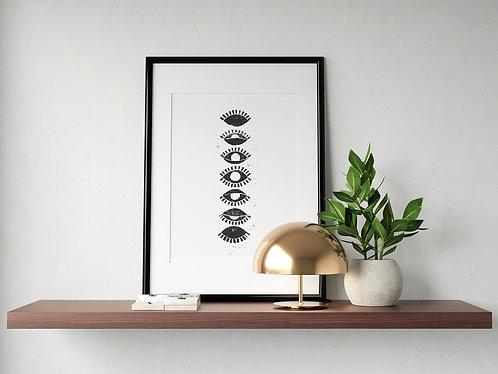 'Eye Phase' Block Print