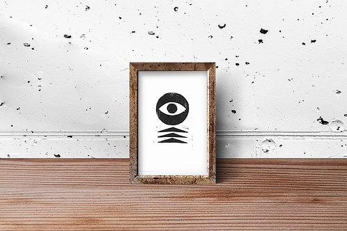 'Sharp Eye' Block Print