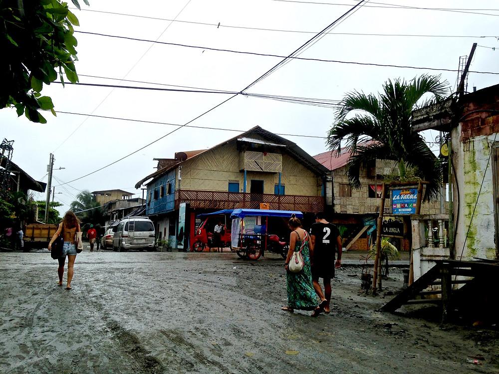 the beachy streets of Mompiche, Ecuador