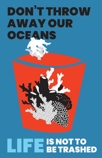 ocean conservation coral reef advocacy poster design