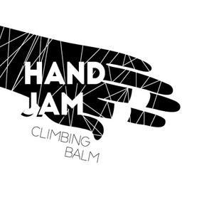 hand jam climbing balm logo label design