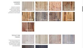 product gallery reclaiemd wood website page design