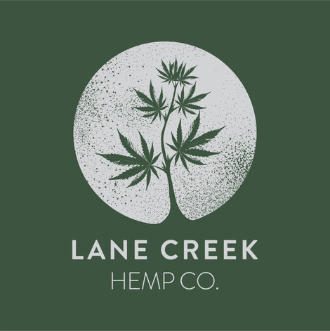 lane creek hemp co farm logo design