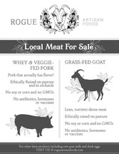 local meat flyer design