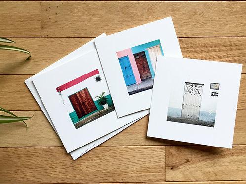 'Threshold' 5x5 Square Cards Set of 3