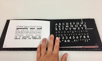 typography design booklet futura