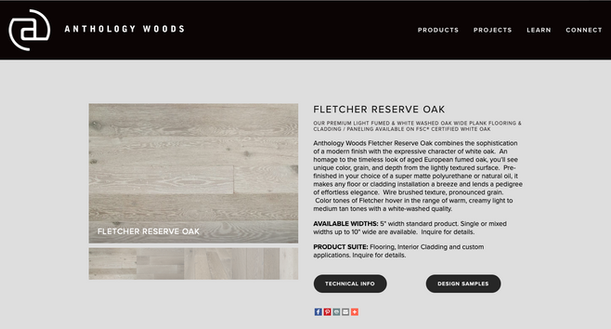 old reclaimed wood website design page