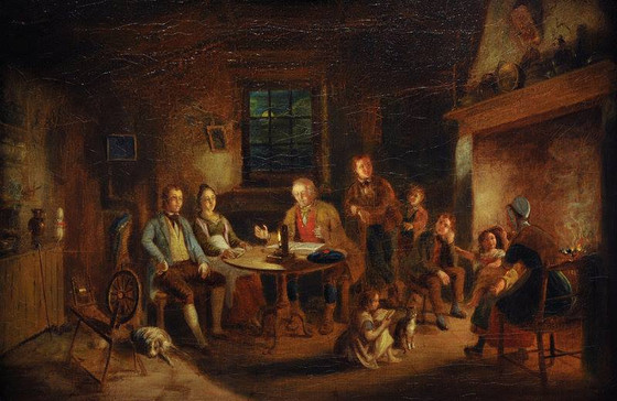 Household Duties (1) - Family Catechising, William Thomas (1593-1667).