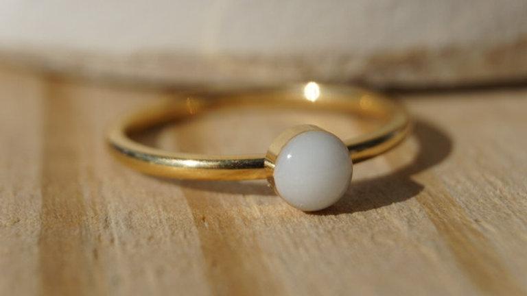 Thin Band Signature Ring