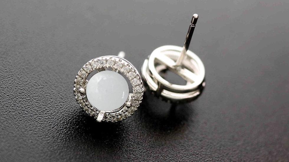 Sterling Silver Halo Earrings