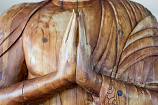 Carved wooden buddha hand Namaste Made R