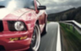 Sports car advertisement