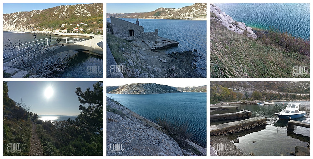 Photos by Bernard Jan - The path from Bakarac to Kraljevica, Croatia, November 2020