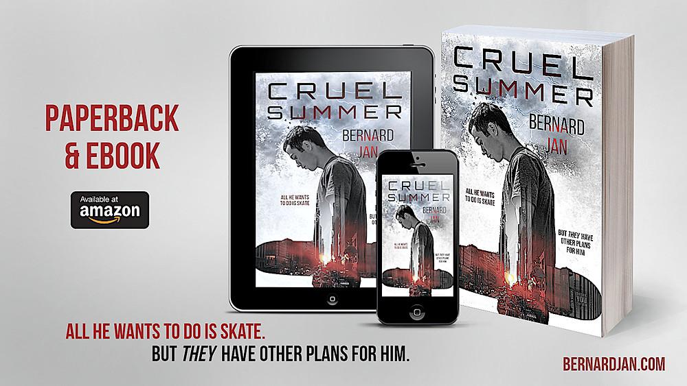Cruel Summer by Bernard Jan eBook and paperback, design by Dean Cole