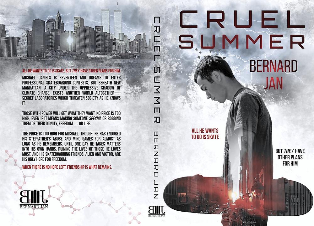 Cruel Summer by Bernard Jan paperback cover designed by Dean Cole