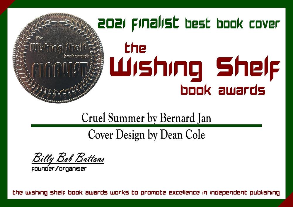 Cruel Summer 2021 finalist best book cover of the Wishing Shelf book awards