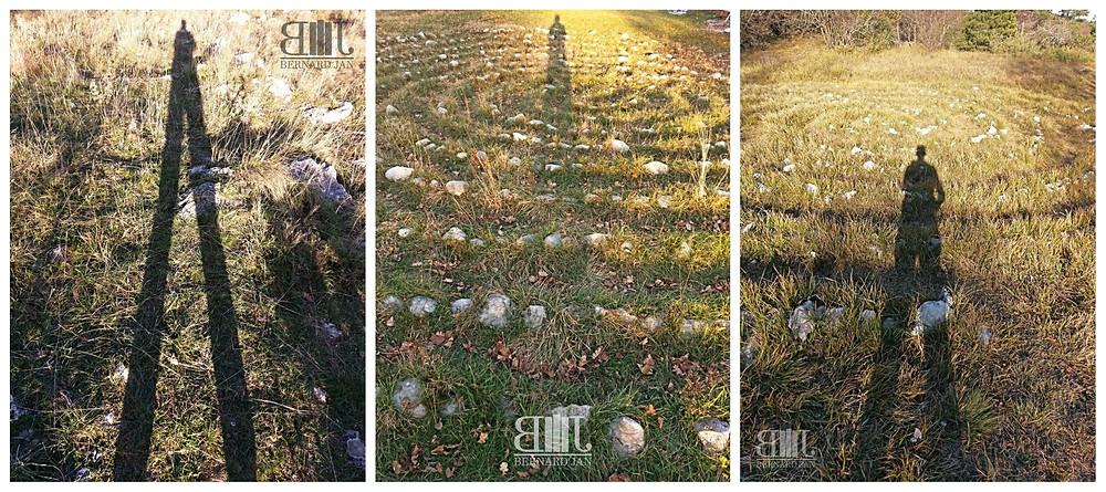 Photos by Bernard Jan - My shadows in Grobnik, Dražice and Učka Land Art Trail, Croatia, November 2020
