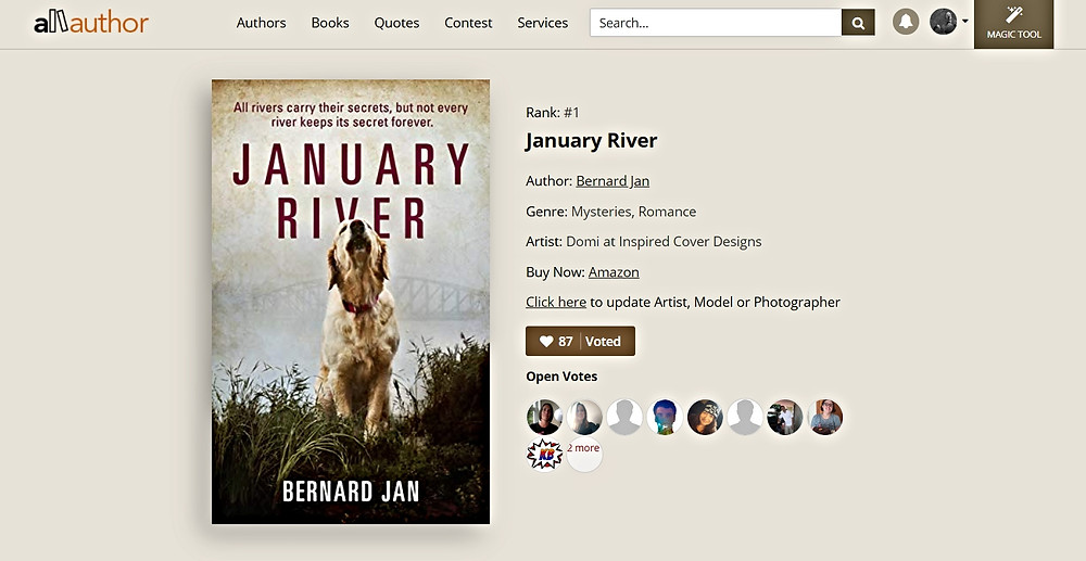 January River in AllAuthor Cover Contest for June 2020