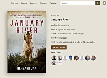 January River in AllAuthor Cover Contest