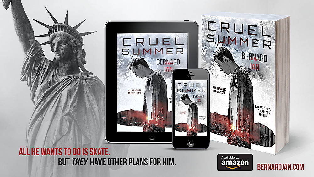 Cruel Summer by Bernard Jan eBook and paperback, design by Dean Cole