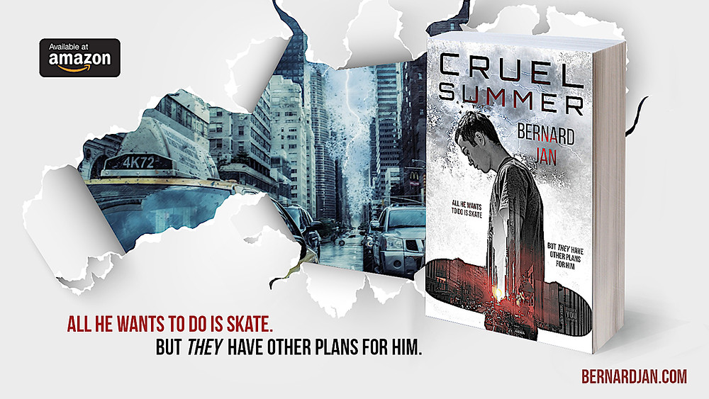 Cruel Summer by Bernard Jan paperback, design by Dean Cole
