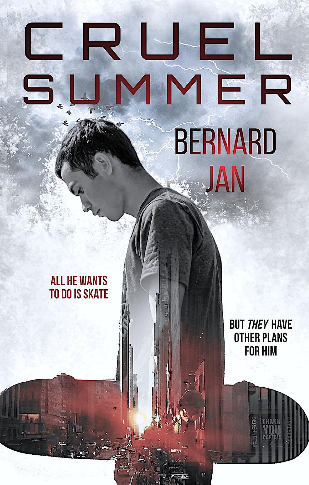 Cruel Summer by Bernard Jan eBook cover designed by Dean Cole