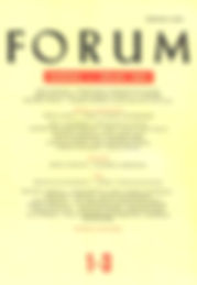 Cover of the Croatian literary magazine Forum with Michael Daniels' selected poems written by Bernard Jan