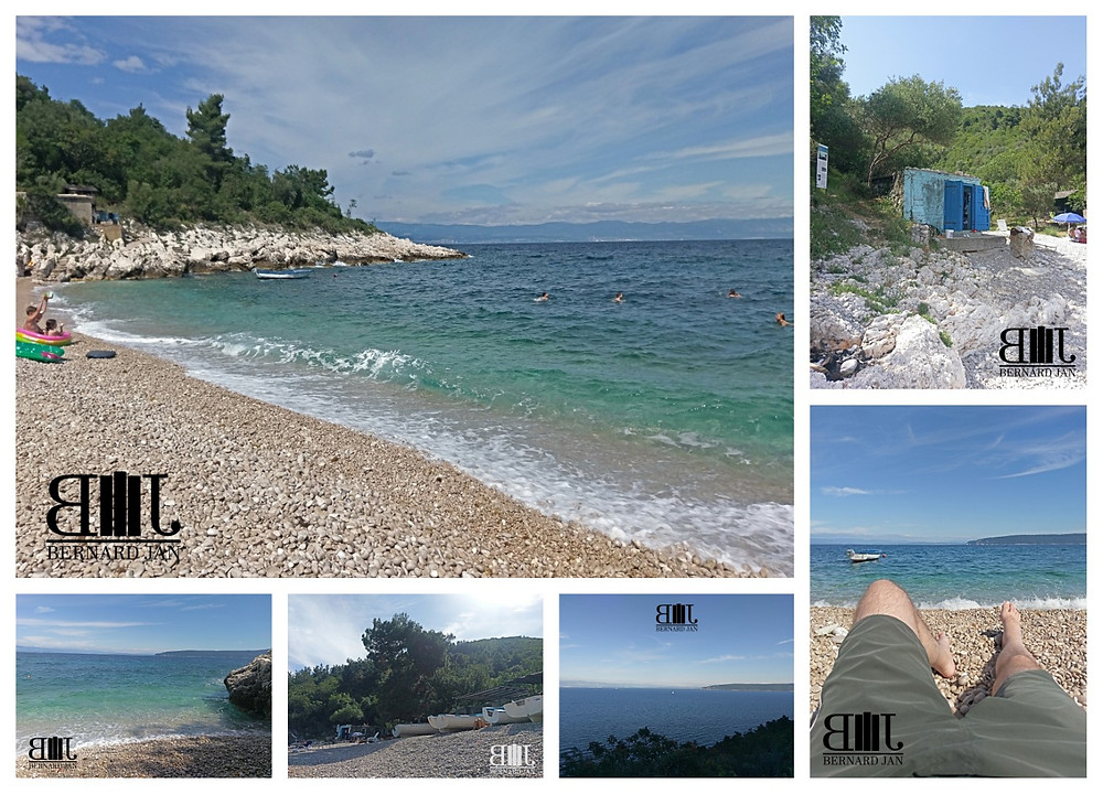 My vacation in Croatia: Beach Jelenščica, July 4, 2020