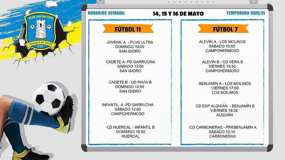FUTBOL 11 Y FUTBOL 7 14, 15 Y 16 MAYO (1