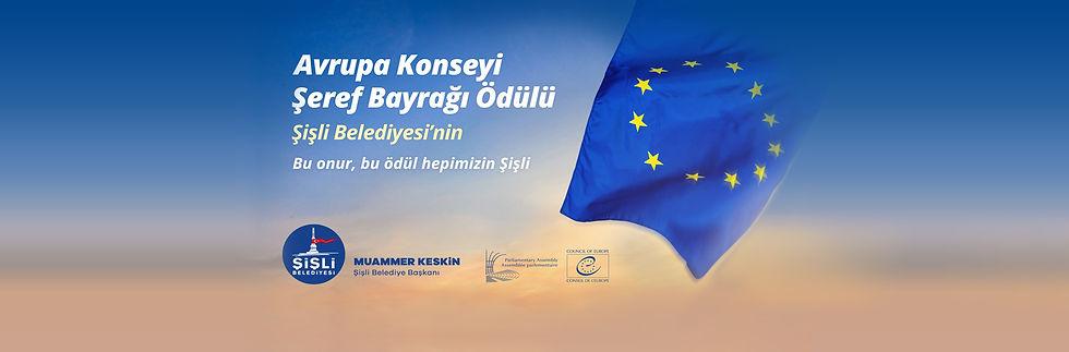 Avrupa Konseyi Şeref Bayrağı Ödülü Şişli Belediyesi'nin