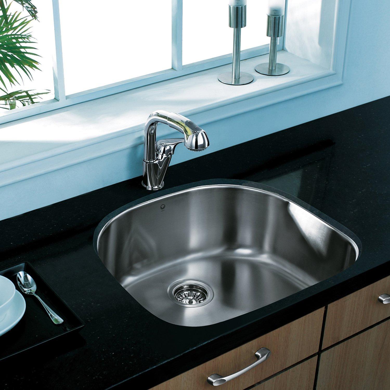 Wonderful VIGO 24 Inch Undermount Single Bowl 18 Gauge Stainless Steel Kitchen Sink