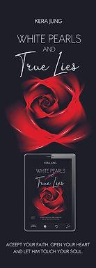 Lesezeichen White Pearls & True Lies