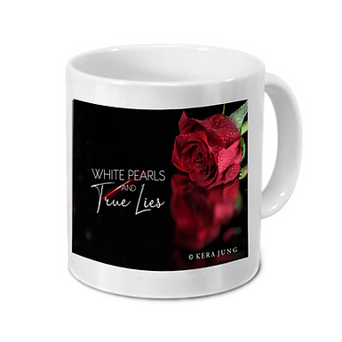 "Tasse ""White Pearls and True Lies"" Motiv 3"