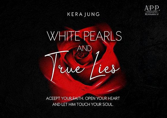 Postkarte / Lesezeichen White Pearls & True Lies