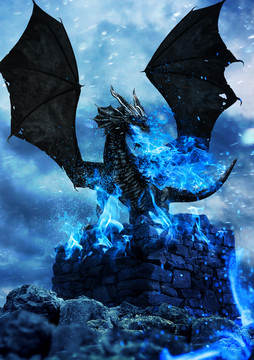 The Dragon of Blue Flames