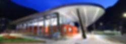 Estación de Autobuses de Andorra. información salidas llegadas. International info bus