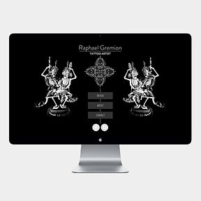 site web -RGtattoo- designed by labeuse.ch