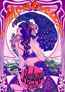 Affiche -Montreux Burlesque- designed by labeuse.ch
