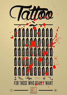 Affiche -Tattoo à 50 balles- designed by labeuse.ch