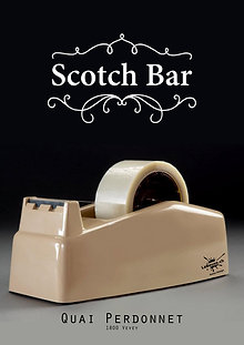 Affiche -Scotch bar- designed by labeuse.ch